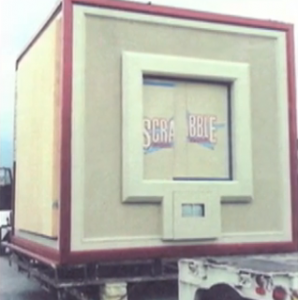 The 1993 model, sitting on the back of a truck at NBC Studios
